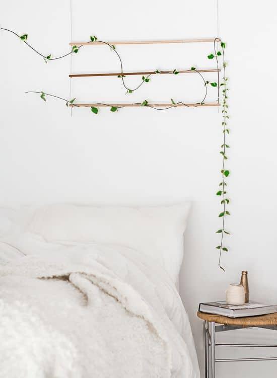 déco de la chambre plante