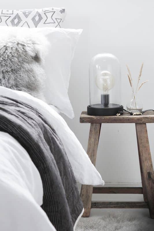 chambre table de chevet lagom decoration  - Le lagom, une nouvelle tendance déco venue de Suède
