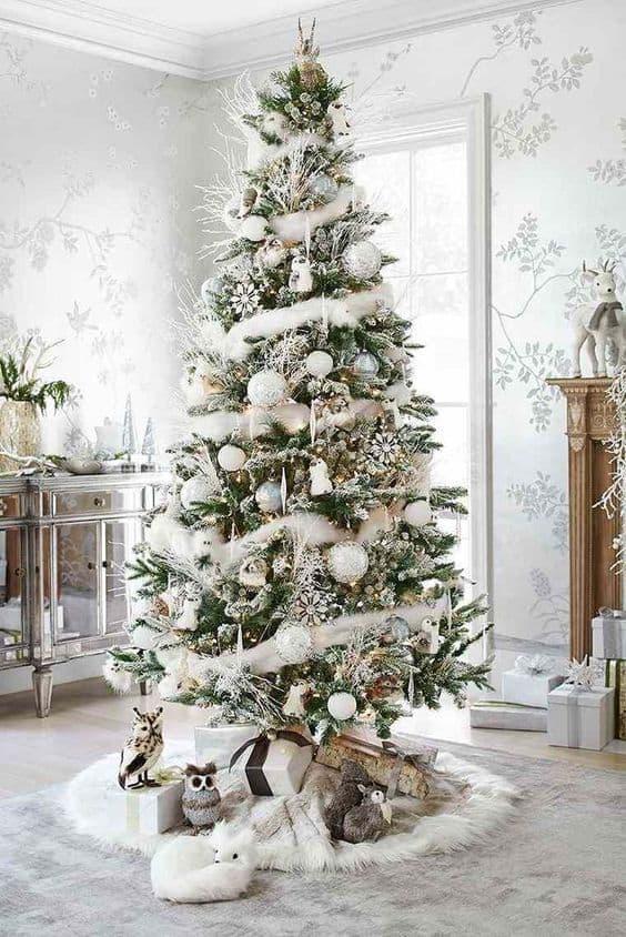 sapin noel deco blanche - Le sapin de Noël :  comment réussir à le décorer ?