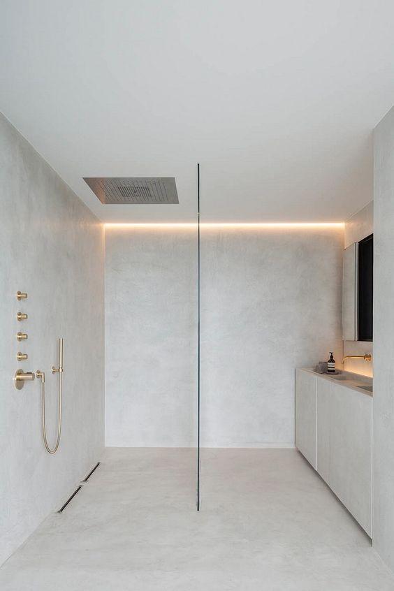 paroi en verre douche italienne