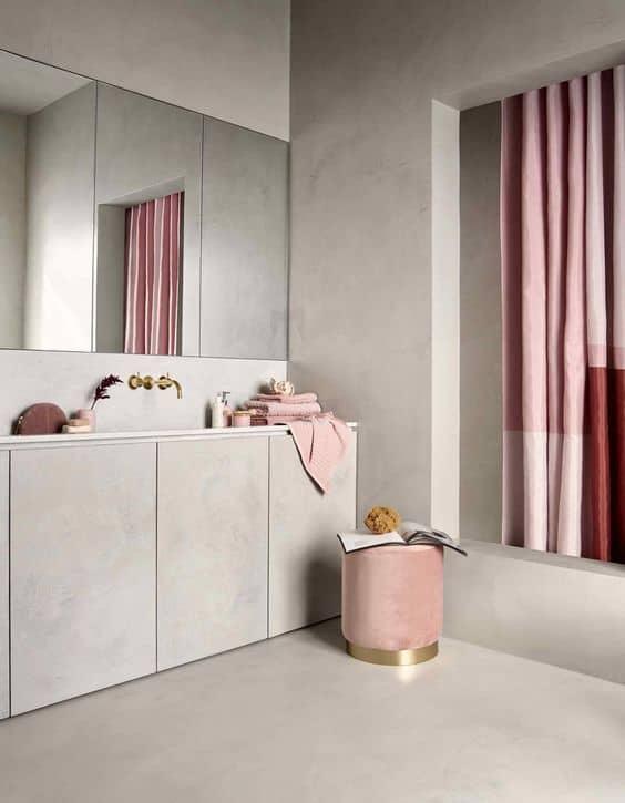 rideau douche salle de bain