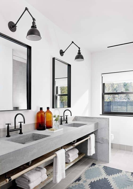 salle de bain applique industrielle luminaire