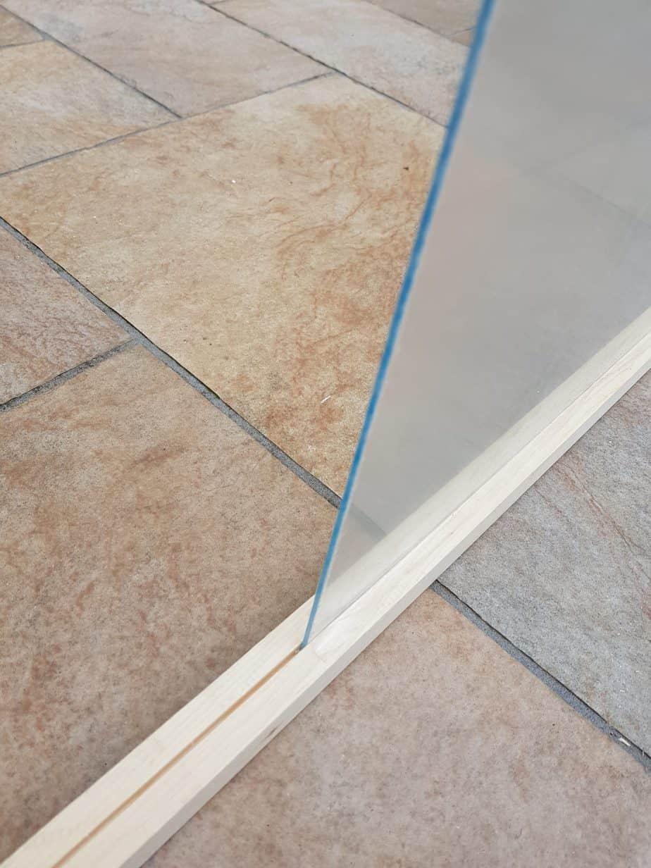 plexiglass bois porte coulissante