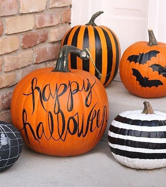 citrouille idees diy pas chères pour halloween