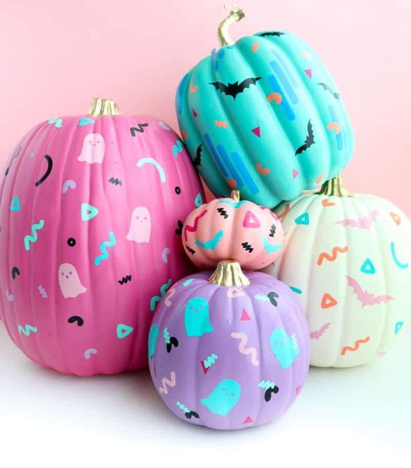 diy citrouille halloween colorées