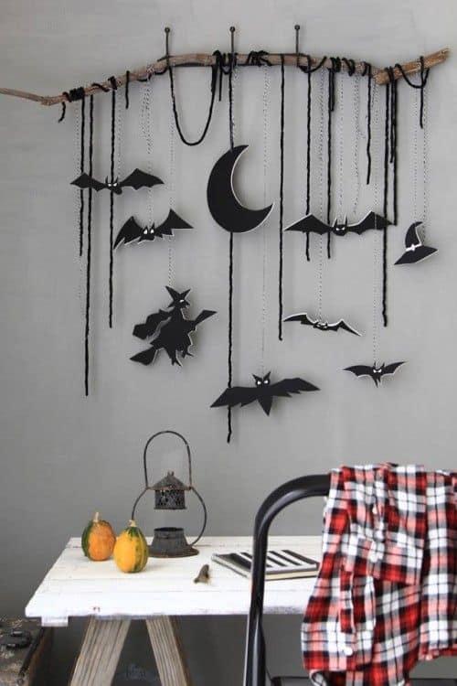 idees diy pas chères pour halloween guirlande de papier