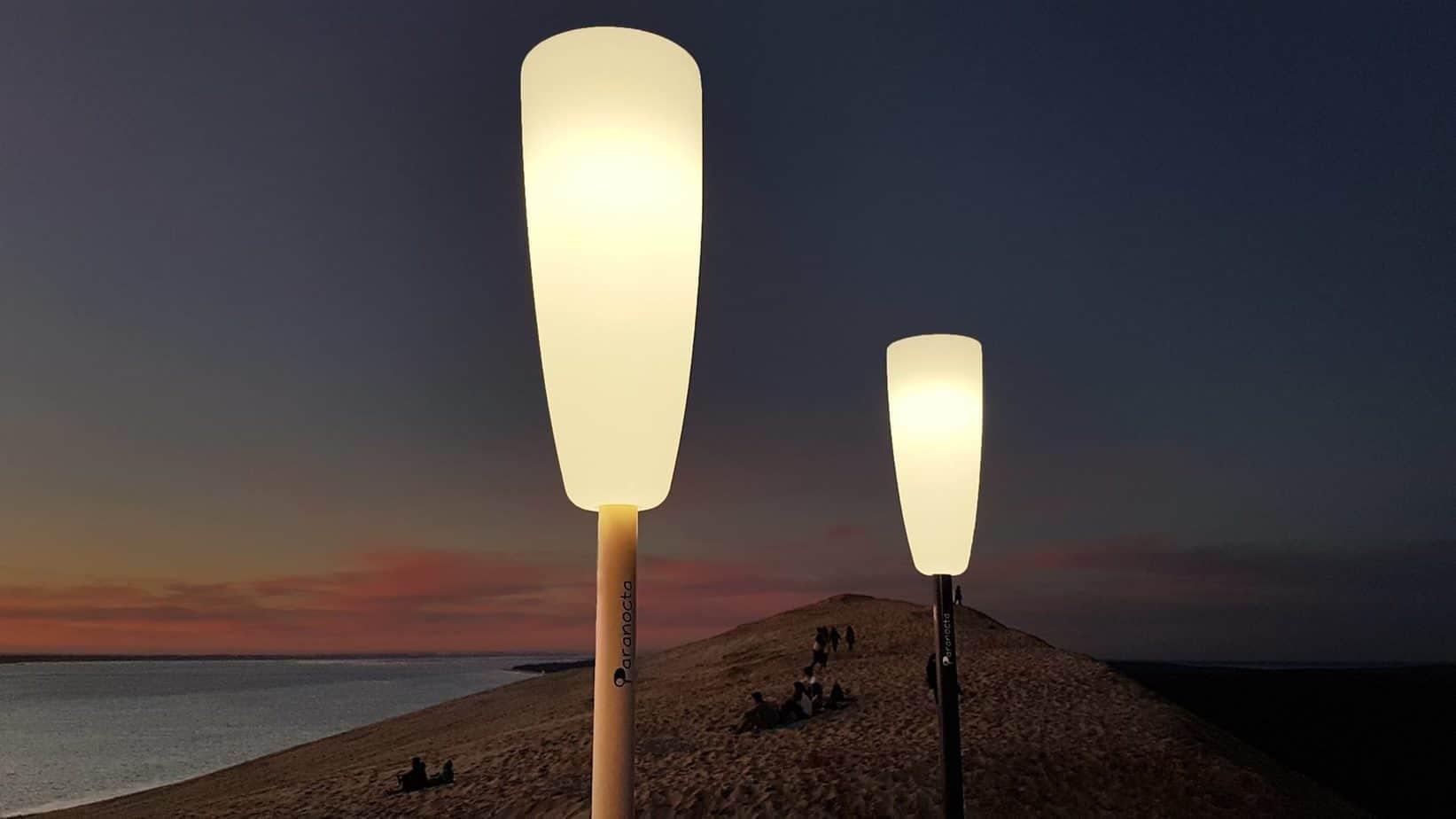 lampadaire paranocta plage