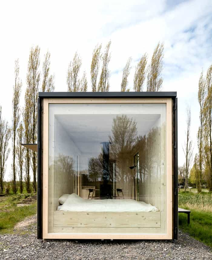 baie vitrée maison écologique