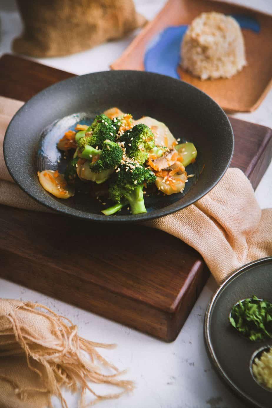 salade de legume vapeur recette végétariennes
