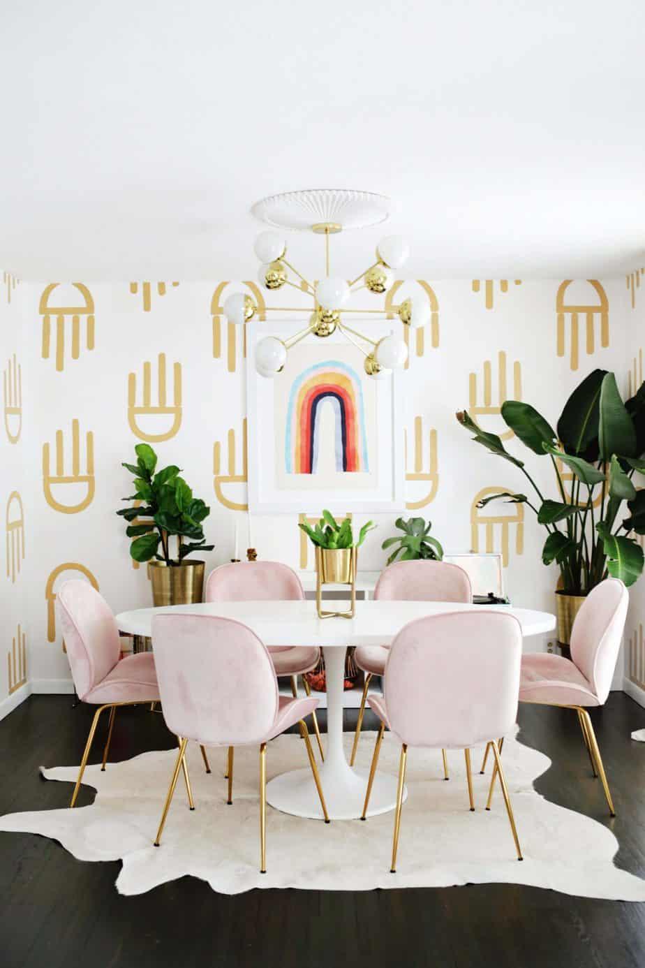 papier peint diy pour le salon  1365x2048 - Une sélection de DIY pour le salon, pimper sa déco