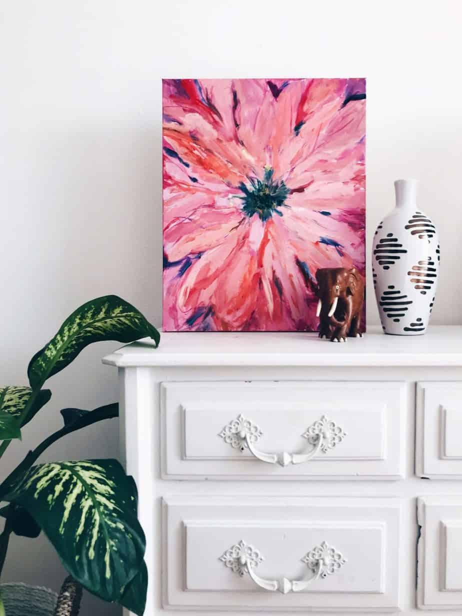 diy deco commode peinture et plante