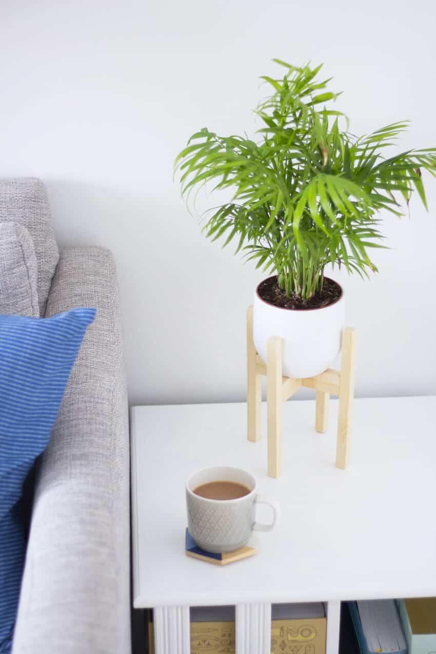 un support pour pot de fleurs diy pour le salon  - Une sélection de DIY pour le salon, pimper sa déco