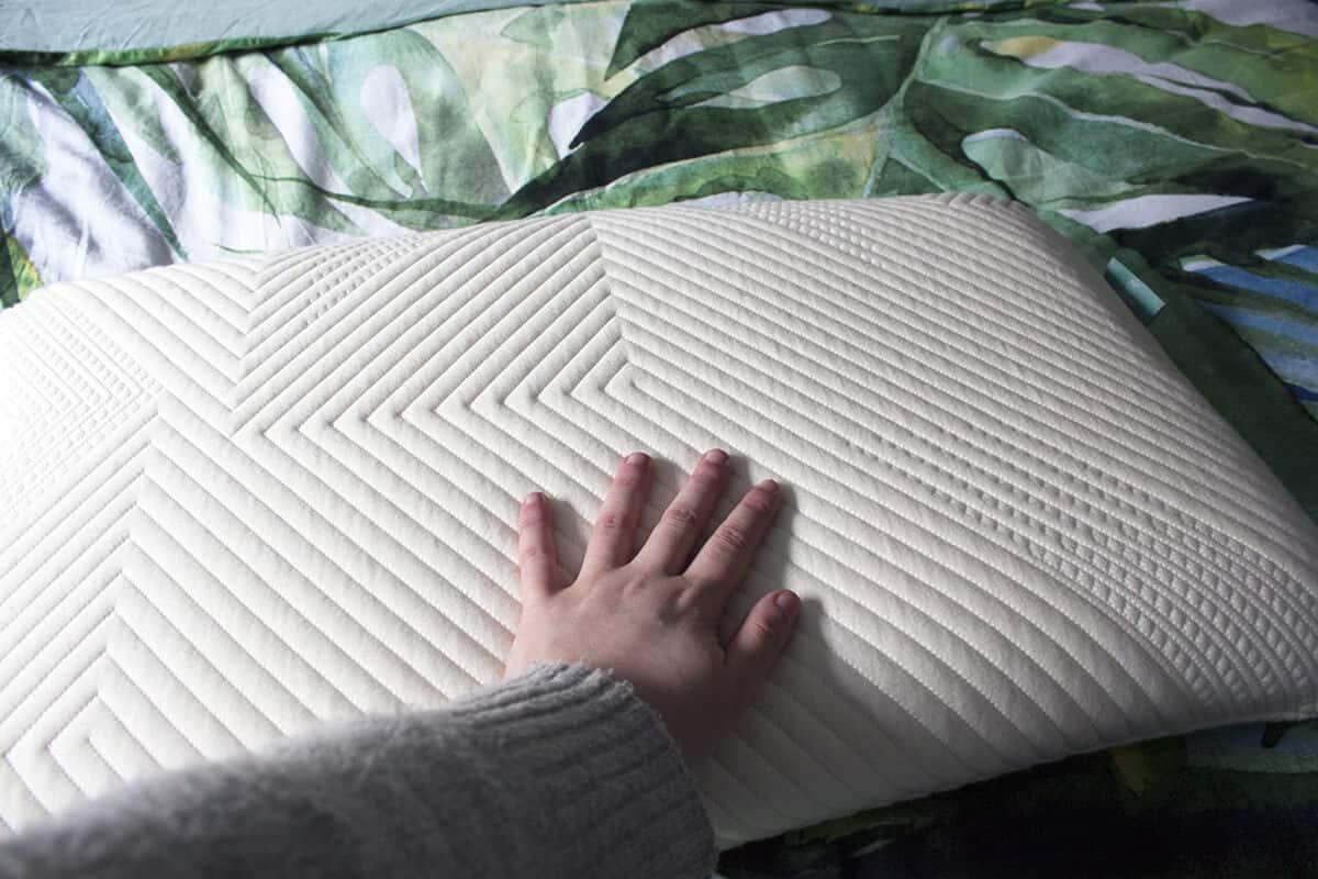 oreiller en latex, laine et coton de la marque kipli