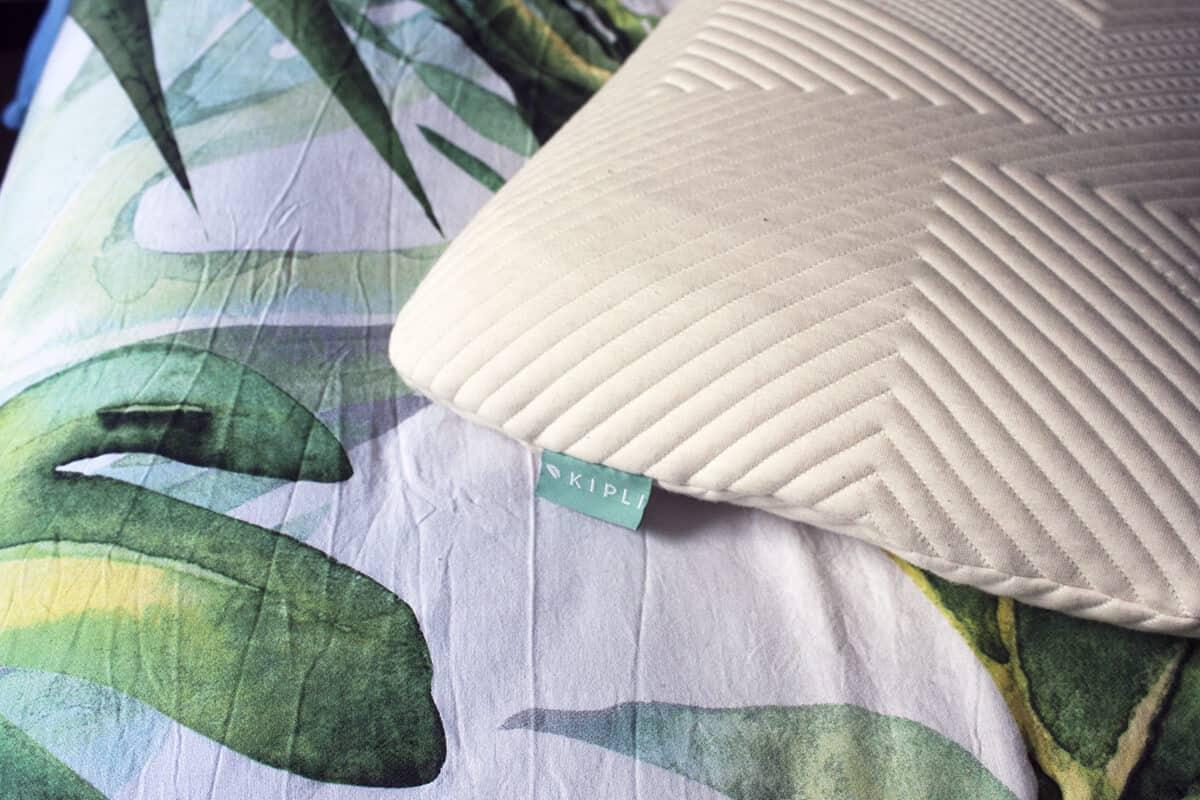 oreiller kipli avec etiquette