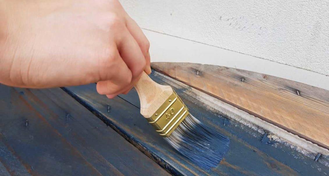 peinture naturelle bois bleue touret terrasse