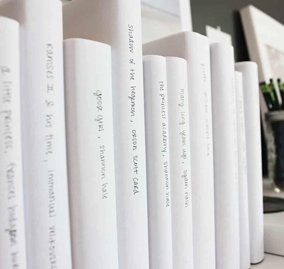 livres sur une étagère