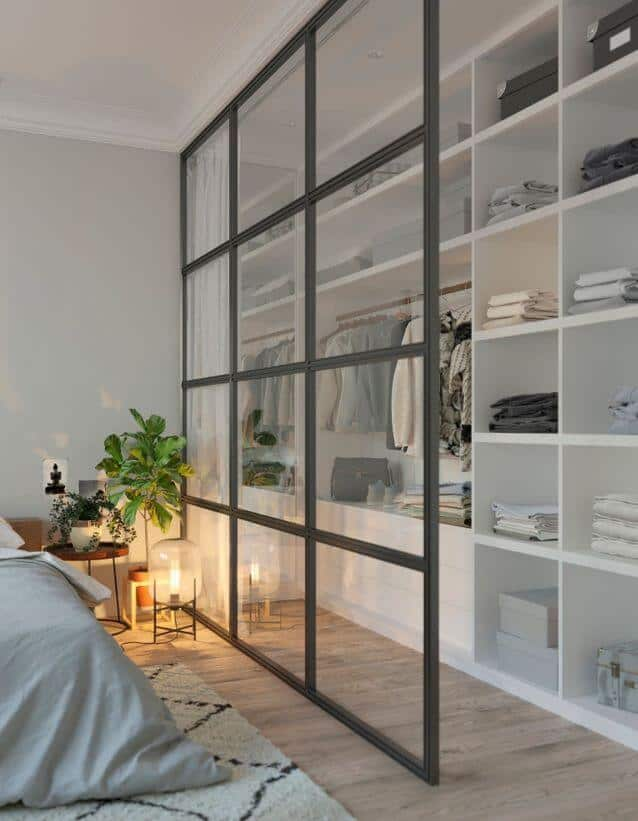 "Un dressing avec verriere - Dressing : transformer une pièce en ""Walk-in closet"""