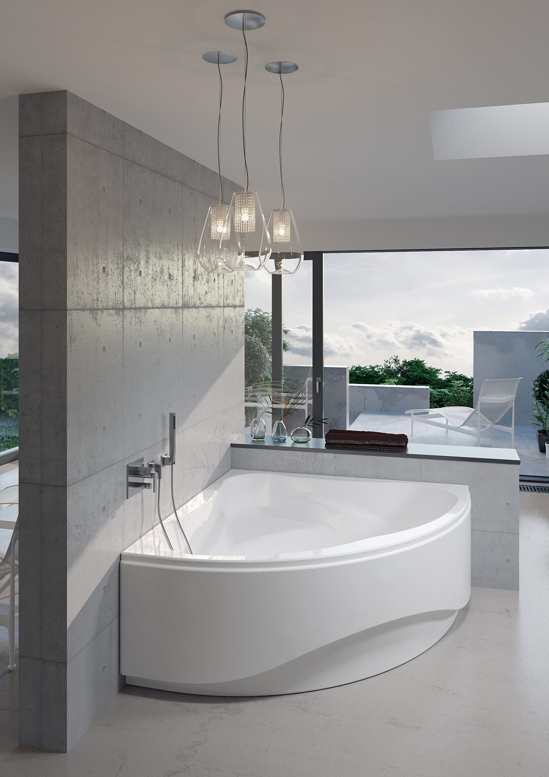 Baignoire dAngle Riho Neo - Quelle baignoire pour une grande salle de bains