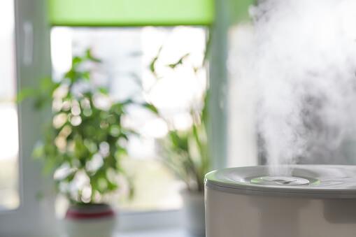 Humidificateur dans un salon zen - Humidité de l'air : découvrez le guide complet