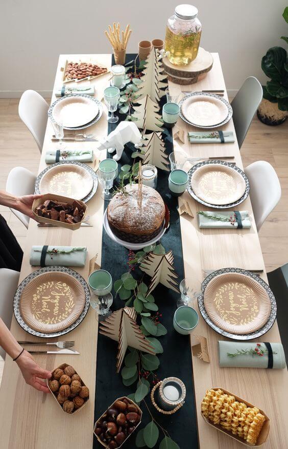 table de Noël Green et zéro déchet - Zoom sur la tendance Noël Green et zéro déchet