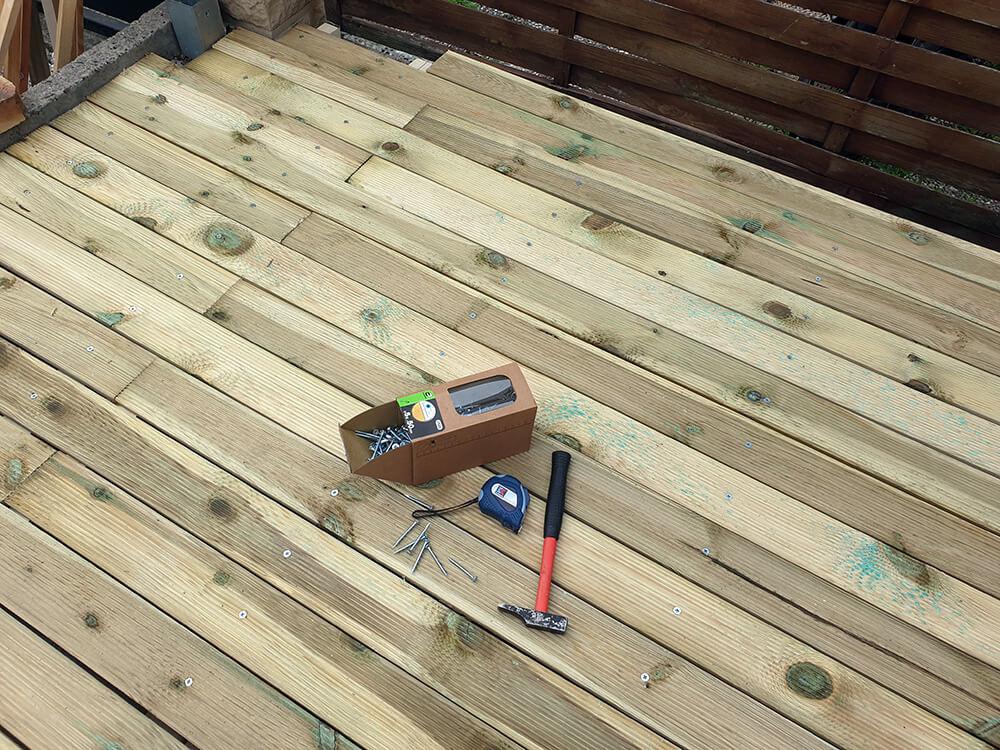 terrasse en bois lasuree - Construire une terrasse en bois