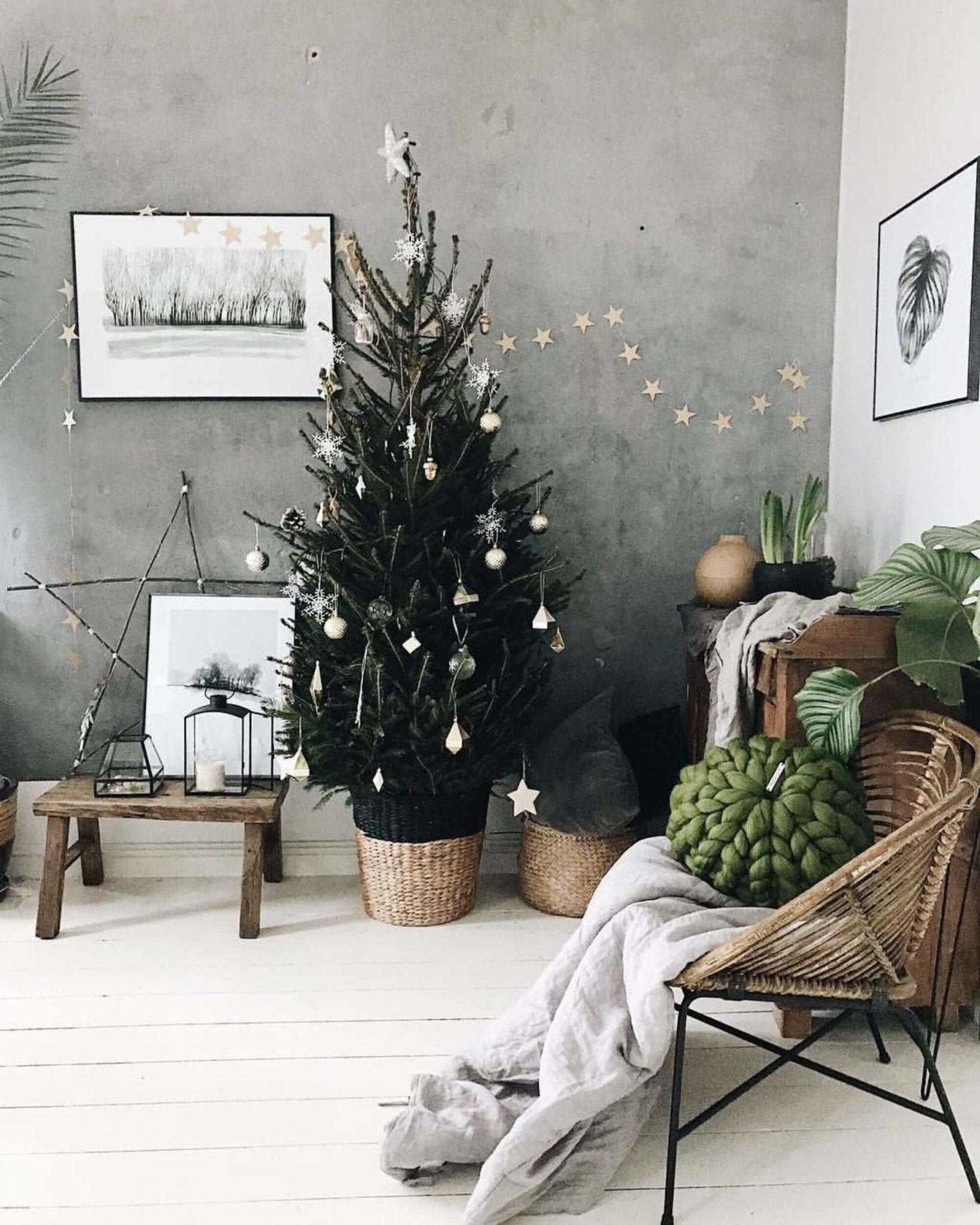 un salon a la deco de noel Noël Green et zéro déchet 1638x2048 - Zoom sur la tendance Noël Green et zéro déchet