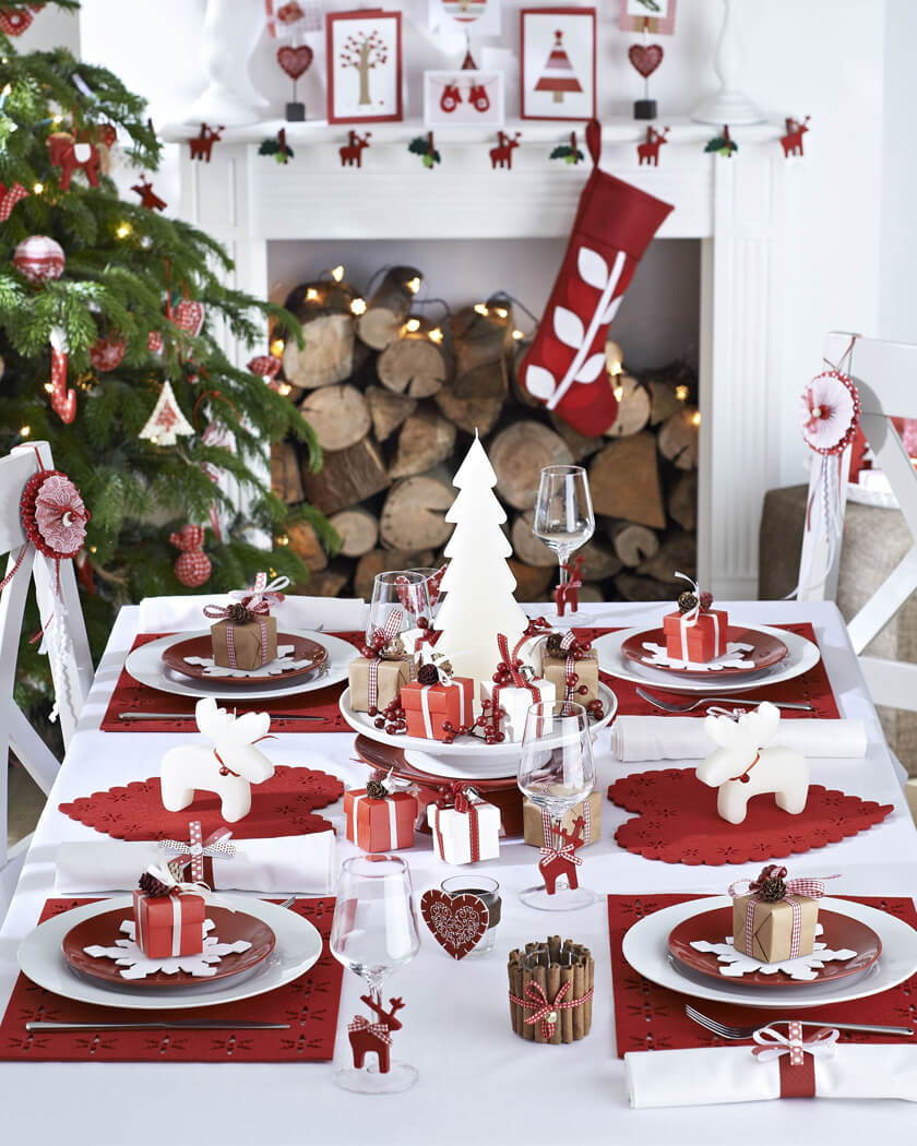une décoration de noel traditionnelle  - Les 8 tendance déco pour Noël 2019
