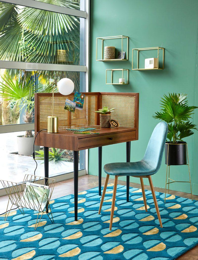 Bureau décoré avec une décoration brésilienne  - La déco du Brésil : un style tropical mêlé à une ambiance bohème