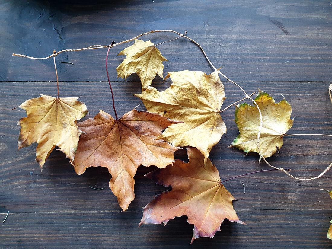 fabrication guirlande de noel avec des feuilles mortes - Comment adopter la guirlande de Noël zéro déchet ?