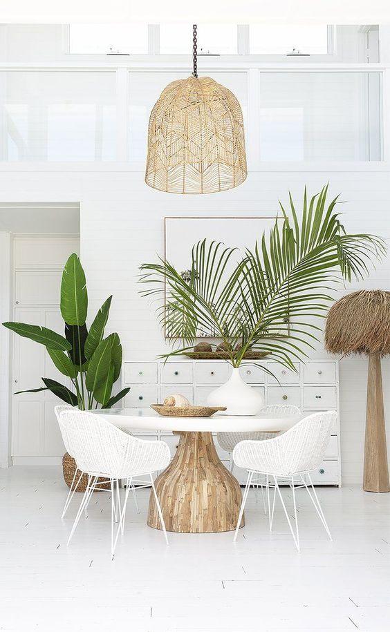 une salle à manger avec un joli éclairage intérieur  - 6 règles à connaître pour réussir l'éclairage intérieur